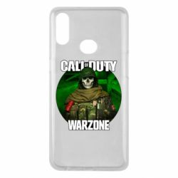 Чохол для Samsung A10s Call of duty Warzone ghost green background