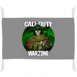 Прапор Call of duty Warzone ghost green background