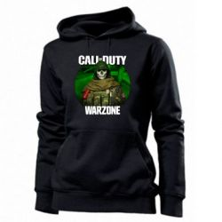 Толстовка жіноча Call of duty Warzone ghost green background