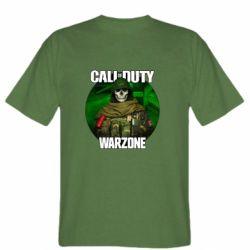 Чоловіча футболка Call of duty Warzone ghost green background