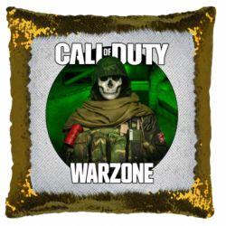 Подушка-хамелеон Call of duty Warzone ghost green background