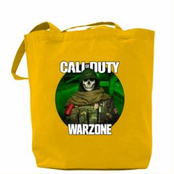Сумка Call of duty Warzone ghost green background
