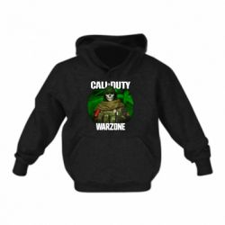 Дитяча толстовка на флісі Call of duty Warzone ghost green background