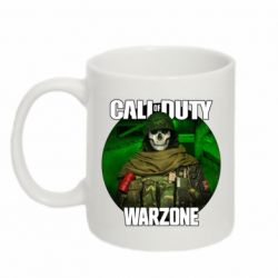 Кружка 320ml Call of duty Warzone ghost green background