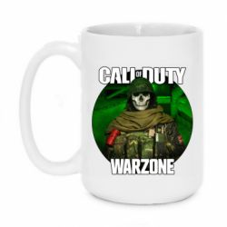 Кружка 420ml Call of duty Warzone ghost green background