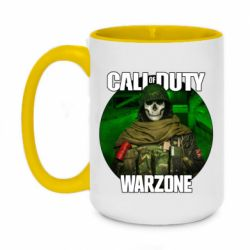 Кружка двоколірна 420ml Call of duty Warzone ghost green background