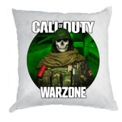 Подушка Call of duty Warzone ghost green background