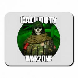 Килимок для миші Call of duty Warzone ghost green background