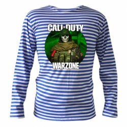 Тільник з довгим рукавом Call of duty Warzone ghost green background