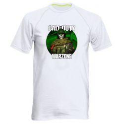 Чоловіча спортивна футболка Call of duty Warzone ghost green background