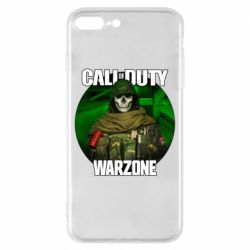 Чохол для iPhone 7 Plus Call of duty Warzone ghost green background