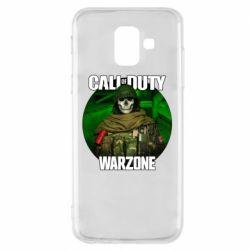 Чохол для Samsung A6 2018 Call of duty Warzone ghost green background