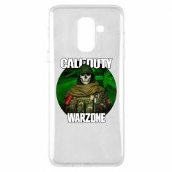 Чохол для Samsung A6+ 2018 Call of duty Warzone ghost green background