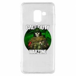 Чохол для Samsung A8 2018 Call of duty Warzone ghost green background