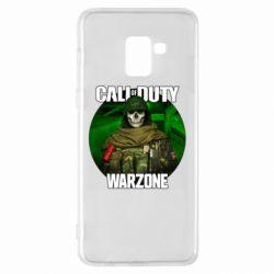 Чохол для Samsung A8+ 2018 Call of duty Warzone ghost green background