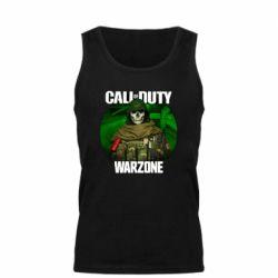Майка чоловіча Call of duty Warzone ghost green background