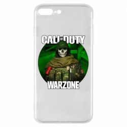 Чохол для iPhone 8 Plus Call of duty Warzone ghost green background