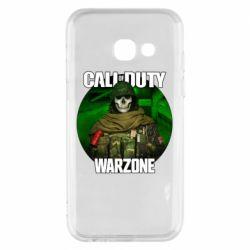 Чохол для Samsung A3 2017 Call of duty Warzone ghost green background