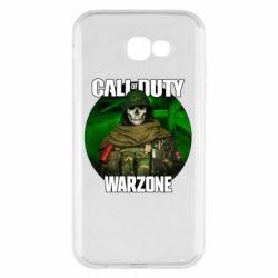 Чохол для Samsung A7 2017 Call of duty Warzone ghost green background