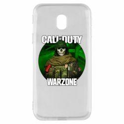 Чохол для Samsung J3 2017 Call of duty Warzone ghost green background