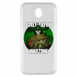 Чохол для Samsung J7 2017 Call of duty Warzone ghost green background