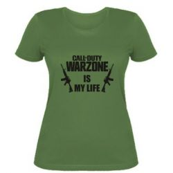 Женская футболка Call of duty warzone is my life M4A1