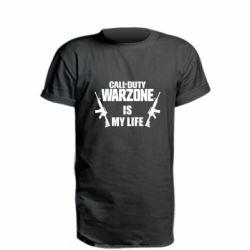 Удлиненная футболка Call of duty warzone is my life M4A1