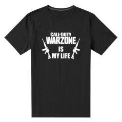 Мужская стрейчевая футболка Call of duty warzone is my life M4A1