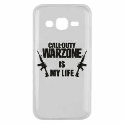 Чехол для Samsung J2 2015 Call of duty warzone is my life M4A1
