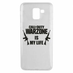 Чехол для Samsung J6 Call of duty warzone is my life M4A1