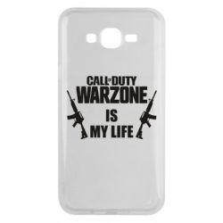 Чехол для Samsung J7 2015 Call of duty warzone is my life M4A1