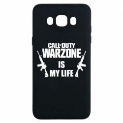 Чехол для Samsung J7 2016 Call of duty warzone is my life M4A1