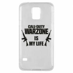 Чехол для Samsung S5 Call of duty warzone is my life M4A1