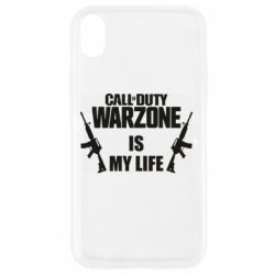 Чехол для iPhone XR Call of duty warzone is my life M4A1