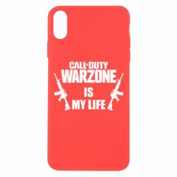 Чехол для iPhone Xs Max Call of duty warzone is my life M4A1