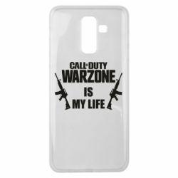 Чехол для Samsung J8 2018 Call of duty warzone is my life M4A1