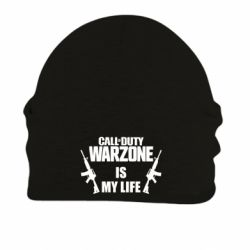 Шапка на флисе Call of duty warzone is my life M4A1