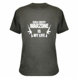 Камуфляжная футболка Call of duty warzone is my life M4A1