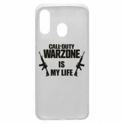 Чехол для Samsung A40 Call of duty warzone is my life M4A1