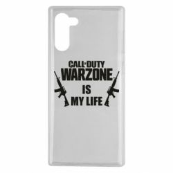 Чехол для Samsung Note 10 Call of duty warzone is my life M4A1