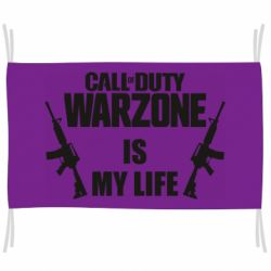 Флаг Call of duty warzone is my life M4A1