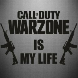 Наклейка Call of duty warzone is my life M4A1