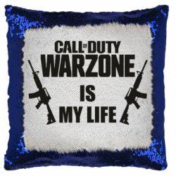 Подушка-хамелеон Call of duty warzone is my life M4A1