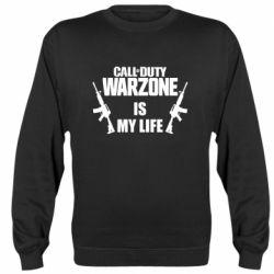 Реглан (свитшот) Call of duty warzone is my life M4A1