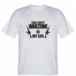 Мужская футболка Call of duty warzone is my life M4A1