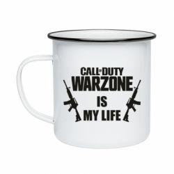 Кружка эмалированная Call of duty warzone is my life M4A1