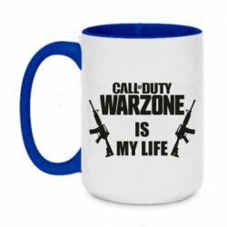 Кружка двухцветная 420ml Call of duty warzone is my life M4A1