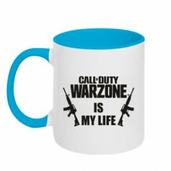 Кружка двухцветная 320ml Call of duty warzone is my life M4A1