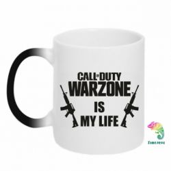 Кружка-хамелеон Call of duty warzone is my life M4A1