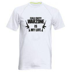 Мужская спортивная футболка Call of duty warzone is my life M4A1